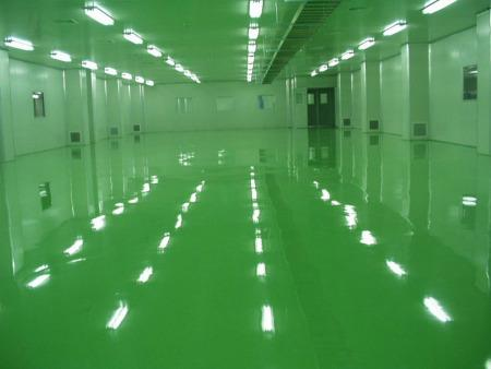 Self-leveling epoxy floor paint